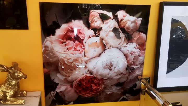 Floral Print On Aluminum