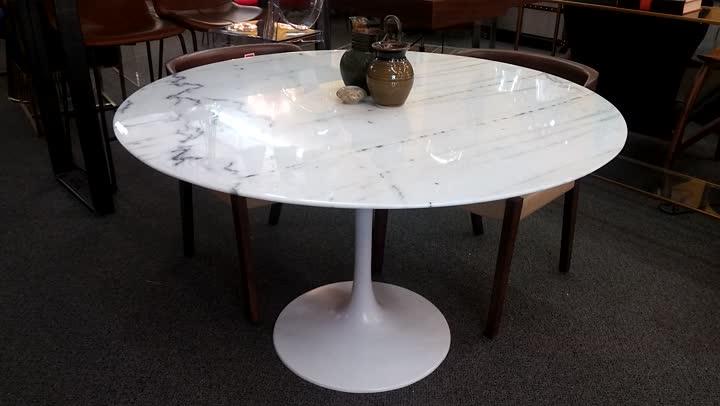 Carrera Marble Tulip Table
